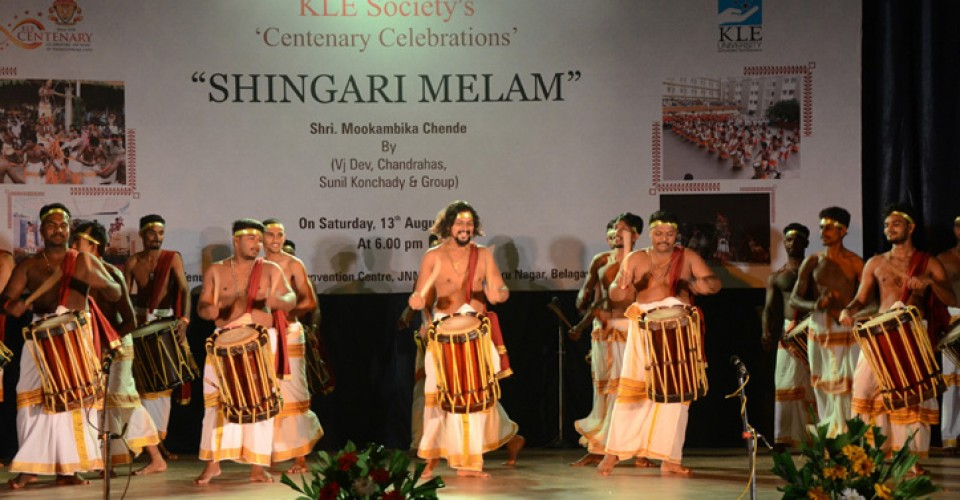 KLE Centenary 'Shingari Melam' Traditional Musical Show on 13/08/2016