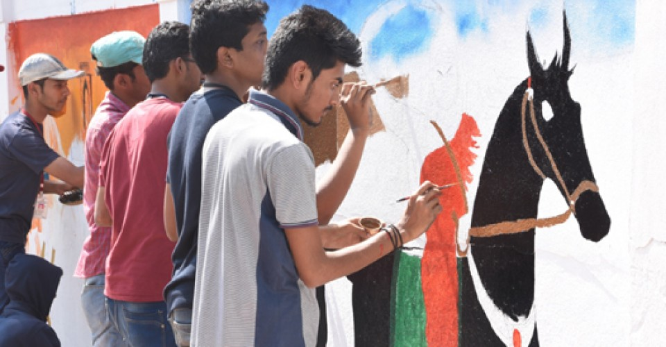 Wallpainting Competition for KLE School SSTU