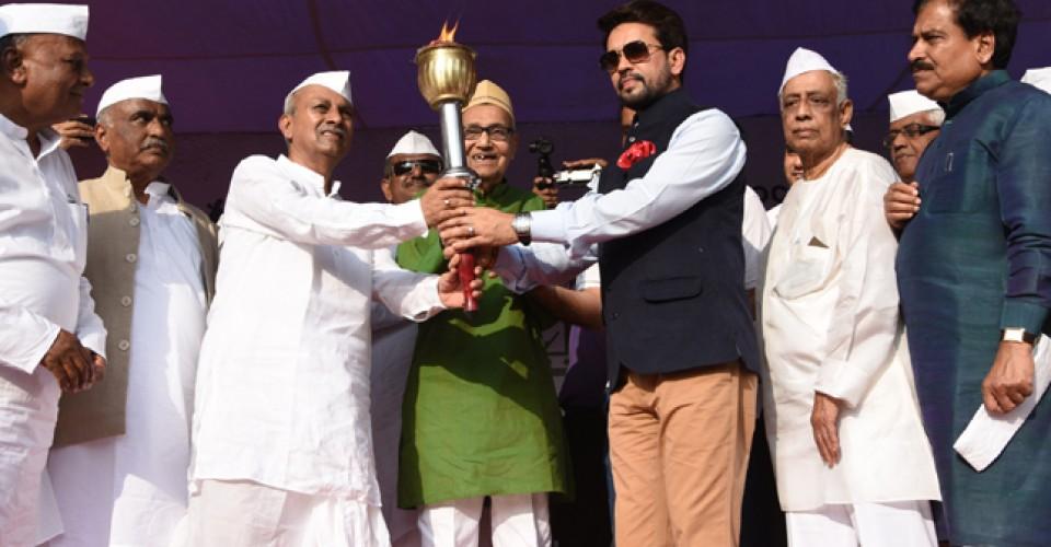 KLE Centenary Rally Flagged Off By Shri Anurag Thakur