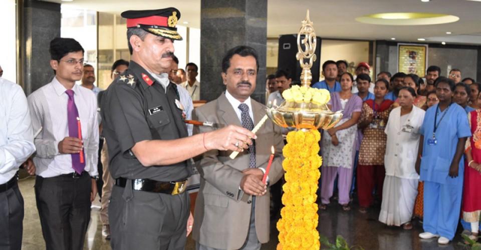 Deepotsav Programme at KLE Hospital